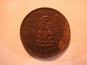 1957 New Zealand Half Penny.