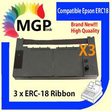 3x Epson ERC-18 ERC18 BLACK printer ink ribbon 2630 2631 Casio  Sharp