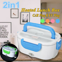 2in1 EU/Car Plug Portable Electric Heating Lunch Box Bento Food Warmer Heater !