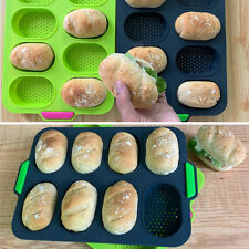 8 Holes Silicone Cake Bread Loaf Pan Tins Non-stick Baking Mould Bakeware Tray
