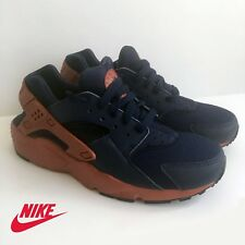 Nike Air Huarache Run (GS) Boy's Running Shoes Navy Brown Size 5.5Y *NEW