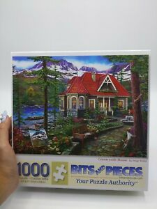 Bits and Pieces 1000 Pc Puzzle Countryside House complete in box