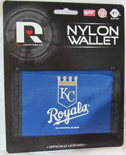 MLB NWT PRINTED TRI-FOLD NYLON WALLET - KANSAS CITY ROYALS