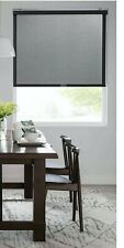 "Real Simple Cordless Open Solar Roller Shade - Black 35"" x 72"""