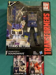 Transformers ~ TITANS RETURN LEADER CLASS SOUNDWAVE - Bonus 2 Titan Masters