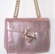 Betsey Johnson Metallic Pink Flap Shoulder Lady Lace Lucky Horseshoe Bag NWT$108
