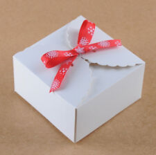 80x White paper Gift Boxes Birthday Wedding Favour Bomboniere Cake Candle Boxes
