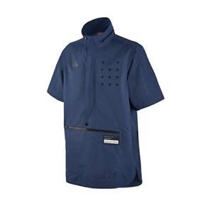 Nike Coastal Blue Short Sleeve Half Zip Air Pivot 3 Hooded Anorak Jacket