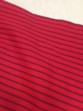 "New Fabric Red Black Striped 144"" x 63"" / 4 yards"