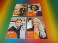8 x  ZDF Moma Dunja Hayali  signed signiert  Autogramm auf Autogrammkarte
