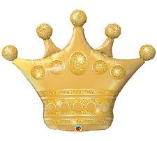 "41"" Golden Crown Foil Balloon Mylar Super shape Crown balloon"