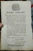 1815 239) STORICO MANIFESTO SULLA SCONFITTA DI NAPOLEONE BONAPARTE A WATERLOO