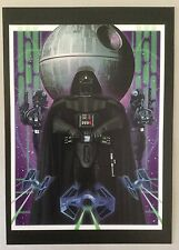 Disney WONDERGROUND Postcard DARTH VADER - Death Star by Joe Corroney STAR WARS