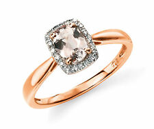 Morganite 9 Carat Rose Gold Fine Rings