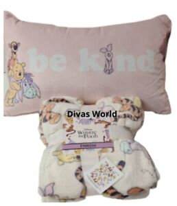 Disney Winnie The Pooh Bed Throw Blanket Or Cushion Pillow Novelty Gift Primark