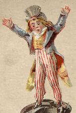 1880's UNCLE SAM, KING'S QUICK RISING BUCK WHEAT FLOUR TRADE CARD TTC281
