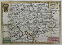 Kupferstichkarte Rheinlande von Baden bis Bingen mittig Worms um 1750 sf