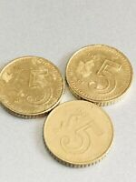 lot of 3 1985 Cinco 5 Pesos, key dates, mexico mexican coins