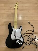 Xbox 360 Harmonix Fender Wired Rock Band Guitar 822152 - Tested Works FAST SHIP