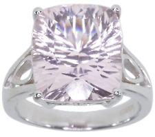 Kunzite Gemstone Baguette Sterling Silver Ring size O