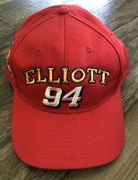 Vintage 94 Bill Elliot Red McDonalds Racing Nascar Snapback Hat