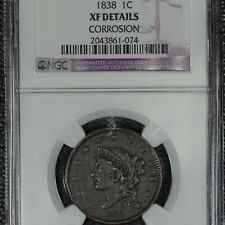 1838 Coronet Large cent, Ngc Xf Details