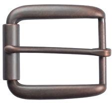 """Elongated Roller Belt Buckle for 1 1/2"""" Belts - Antique Copper Finish"""