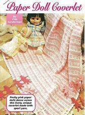 *Paper Doll Baby Afghan crochet PATTERN INSTRUCTIONS