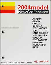 2004 Toyota Feaures Training Manual Camry Celica Echo Highlander Matrix Corolla