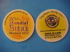 Beer Bar Coaster ~*~ 20 Year MONDIAL de la Biere, Montreal, Canada 2013 Festival