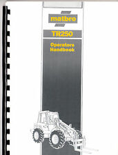 Matbro Tr250 Operators Manual Handbook on CD TR 250 Turbo Terex