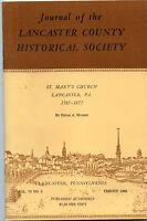 Lancaster County Pennsylvania History-St Mary's Church 1785-1877 Booklet