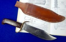 RARE US Vietnam Era Western Bowie Fighting Knife w/ Sheath