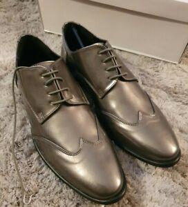 Mens Kurt Geiger Gunmetal Grey Shoes. Size 8