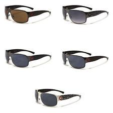 Men's Rectangular Metal & Plastic Anti-Reflective Sunglasses