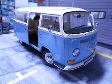 Volkswagen VW T2a T2 A Bus Bulli 1967 - 1970 blue blau weiß white Schuco 1:18