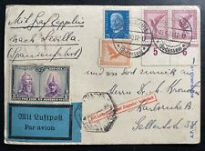 1929 Germany Graf Zeppelin LZ127 Postcard Cover To Sevilla Spain Pro Fide Stamp