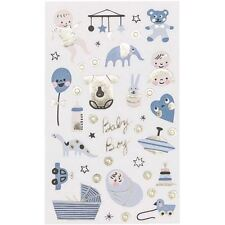 Baby Boy Themed Stickers x 100 Baby Shower New Baby Craft