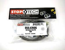 Stoptech Stainless Steel Front Brake Lines For 02-17 Subaru Impreza / Wrx / Sti