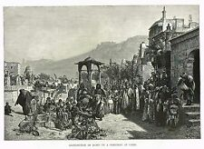 "Picturesque Egypt - ""DISTRIBUTION OF DATES IN CAIRO CEMETARY"" - Litho - 1885"