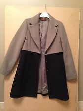 Sublime manteau Bicolore Made France Taille 42 17% De Laine Prix Boutique 200€