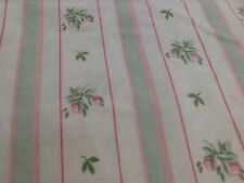 Vintage Roses Twin Sheet Pink Rosebuds Romantic Cottage Chic West Point Stevens