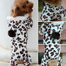 Leopard Warm Winter Pet Dog Puppy Clothes Hoodie Jumpsuit Pajamas