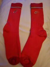 Rare Nike socks large red crew