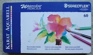 Staedtler 60 Watercolour Pencils Set In Tin