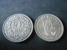 MONETA DA 2 FRANCHI SVIZZERI DEL 1943  IN OTTIMO STATO, OCCASIONE   - R