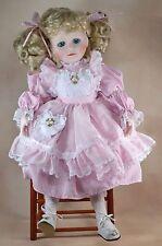 """Vintage Ashton Drake Edwin M Knowles 18"""" Porcelain Meagan Doll By Cindy McClure"""
