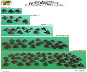 Cut TREE STUMPS 4mm dia. N Scale / N Gauge Model Railway Logging Diorama Scenery