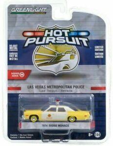1974 Dodge Monaco POLICE Las Vegas Metropolitan *** Greenlight Pursuit 1:64 NEU