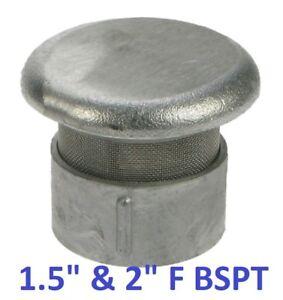 """ALUMINIUM VENT CAP, DUAL 1.5""""/2"""" F BSPT AND FLAME ARRESTOR, PETROL STATION"""